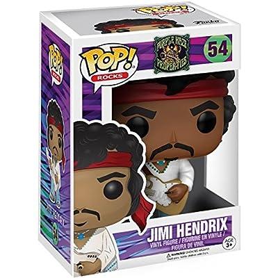 Funko Pop! Rocks: Music - Jimi Hendrix Woodstock #54 Vinyl Figure (Includes Pop Box Protector Case): Toys & Games