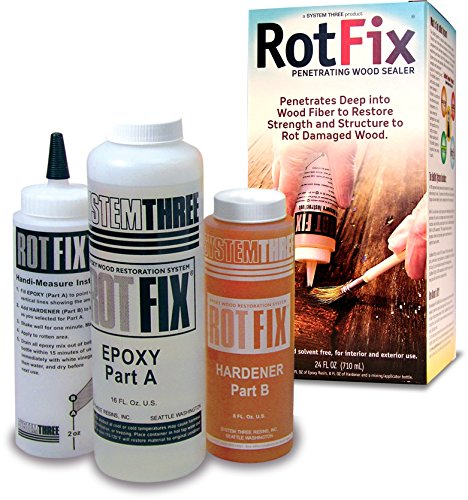 System Three Resins Rotfix Wood Restoration Rot Repair, 24-Ounce (Deep Restoration Repair)