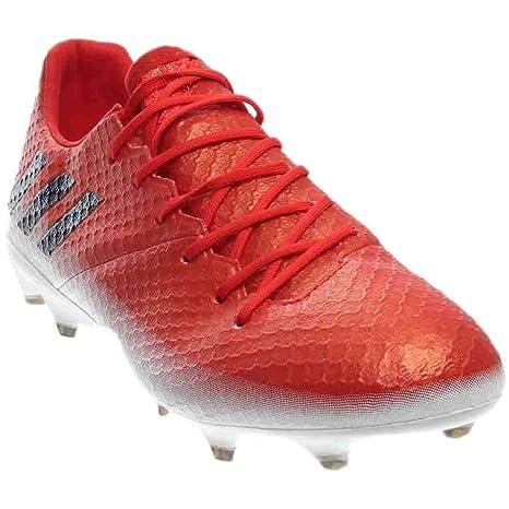 adidas Messi 16.1 - Zapatillas de fútbol para Hombre, (Rojo, Negro, Blanco