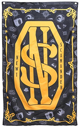 Harry Potter Fantastic Beasts Newt Scamander Banner Fabric Poster, 30-Inch x 50-Inch -