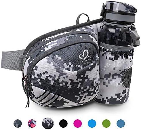 WATERFLY(ウォーターフライ) ウエストバッグ ウェストポーチ アウトドア 水筒ポーチ付き 6色 男女兼用 ランニング ウォーキング ジョギング 登山 散歩 軽量 通気 メンズ レディース