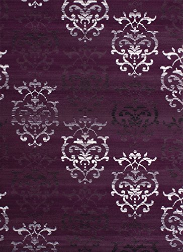 United Weavers of America Dallas Countess Rug - 5 ft. 3 in. x 7 ft. 2 in, Lilac, Area Rug with Abstract Pattern, Jute Backing