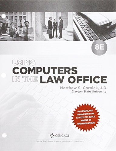 Using Computers in the Law Office, Loose-leaf Version (The Computers Using Office Law In)