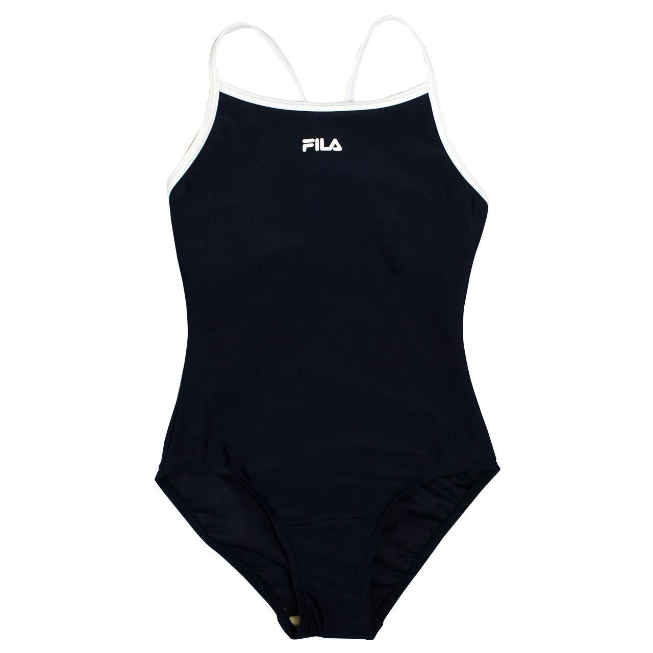 b193e7a415a Amazon | FILA(フィラ) スクール水着 子供 女の子 ワンピース水着 女子 子供水着 ネイビー-ホワイト 170cm | 水着 通販