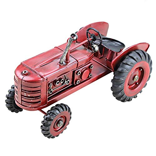 AIOJY Collectible Vehicles Retro Iron Art Model Tractor Station Wagon Model, Commemorative American Rural Decoration European Style Home Wine Decoration Photo Prop Child's Gift (Color : Red)