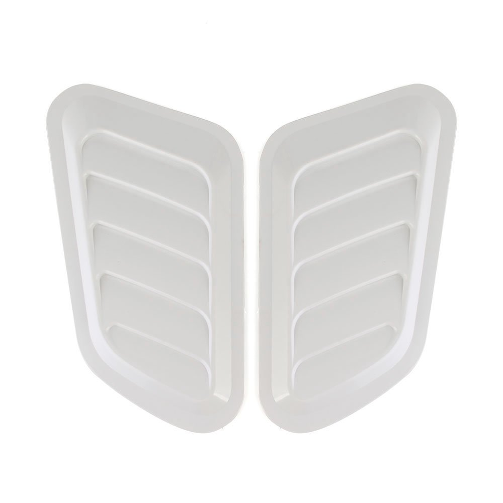 White Zyalex  2 PCS Car Styling Stickers ABS Car Decorative Air Flow Intake Scoop Turbo Bonnet Vent Cover Hood for Mazda for Toyota for BWM