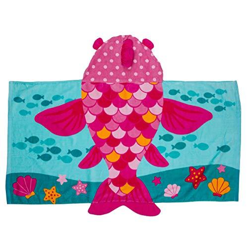 Stephen Joseph Hooded Towel Fish Pink