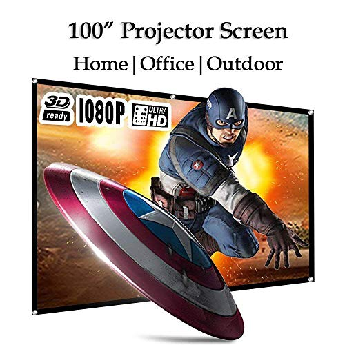 WIKISH 100 Inch Projector Screen 100