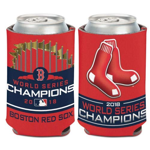 (WinCraft Boston Red Sox 2018 World Series Champions Can Cooler 12oz.)