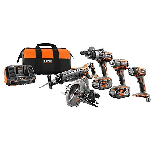 Rigid Power Tools (RIDGID TOOL COMPANY R9652 18V Tool Combo Kit (5 Piece))