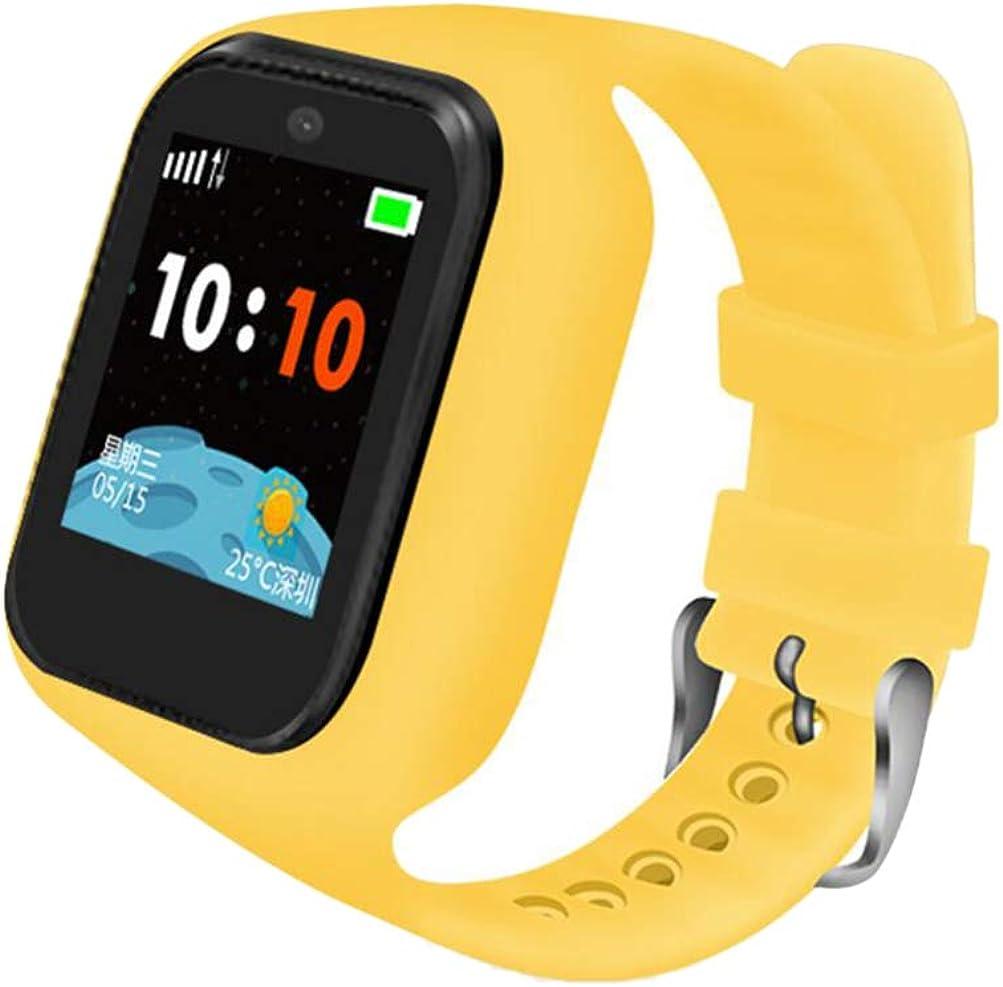 NICERIO Reloj Inteligente para niños - Reloj Inteligente rastreador GPS Impermeable sos Pantalla táctil localizador de Seguimiento Reloj Llamada telefónica Mejor Regalo para niños y niñas (Amarillo)