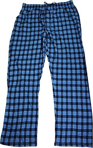 (Hanes Men's Cotton ComfortSoft Printed Knit Pants, Large, Dark)
