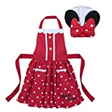 Disney Minnie Mouse Signature Apron and Chef's Hat Set for Kids - Red