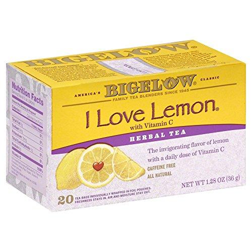 Bigelow I Love Lemon Tea Bags - 20 ct - 3 pk