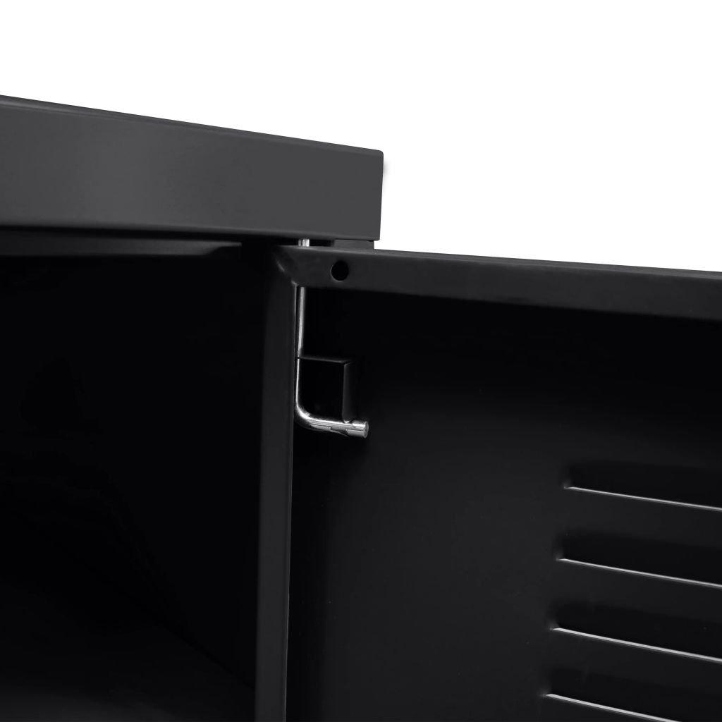 Festnight Meuble TV Industriel avec Armoire de Rangement 118 x 40 x 60 cm Noir