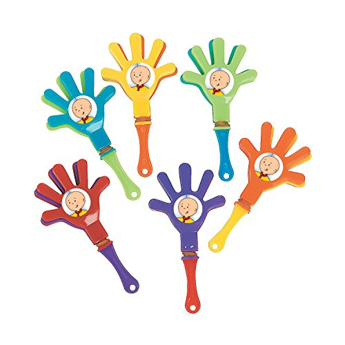 12 CAILLOU mini hand clappers birthday party favors -