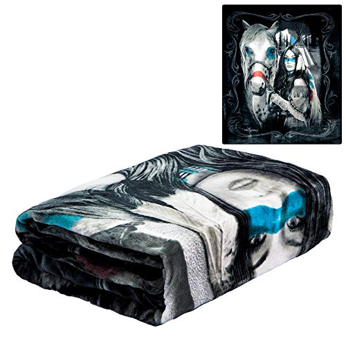 JPI DGA Native American Ultra Soft Flannel Blanket - Officially Licensed - Cozy & Warm - 79'' x 95'' - 100% Polyester