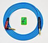 15 ft Canare SILENT Instrument Cable Blue 1/4'' Neutrik TS ST - RA