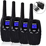 Befove Walkie Talkies, 22 Channel, Two Way Radios with Charger, Support Rechargeable Battery, Long Range Handheld Walkie Talkie for Kids Adult, No Battery Inside.