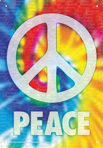 Aquarius Peace Words Tin Sign