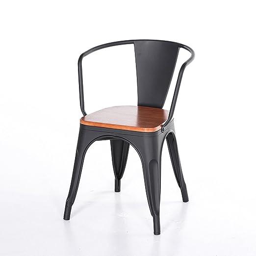 Amazon.com: Silla de bar moderna minimalista de hierro ...