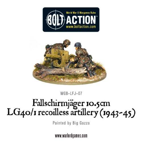 Warlord Games Bolt Action WW2 Fallschirmjager 10.5cm Lg401 Recoilless Artillery