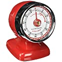 Kikkerland Vintage Streamline Kitchen Timer, Red