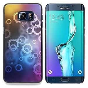 Neon Bubble Circle Pattern Caja protectora de pl??stico duro Dise?¡Àado King Case For Samsung Galaxy S6 Edge Plus