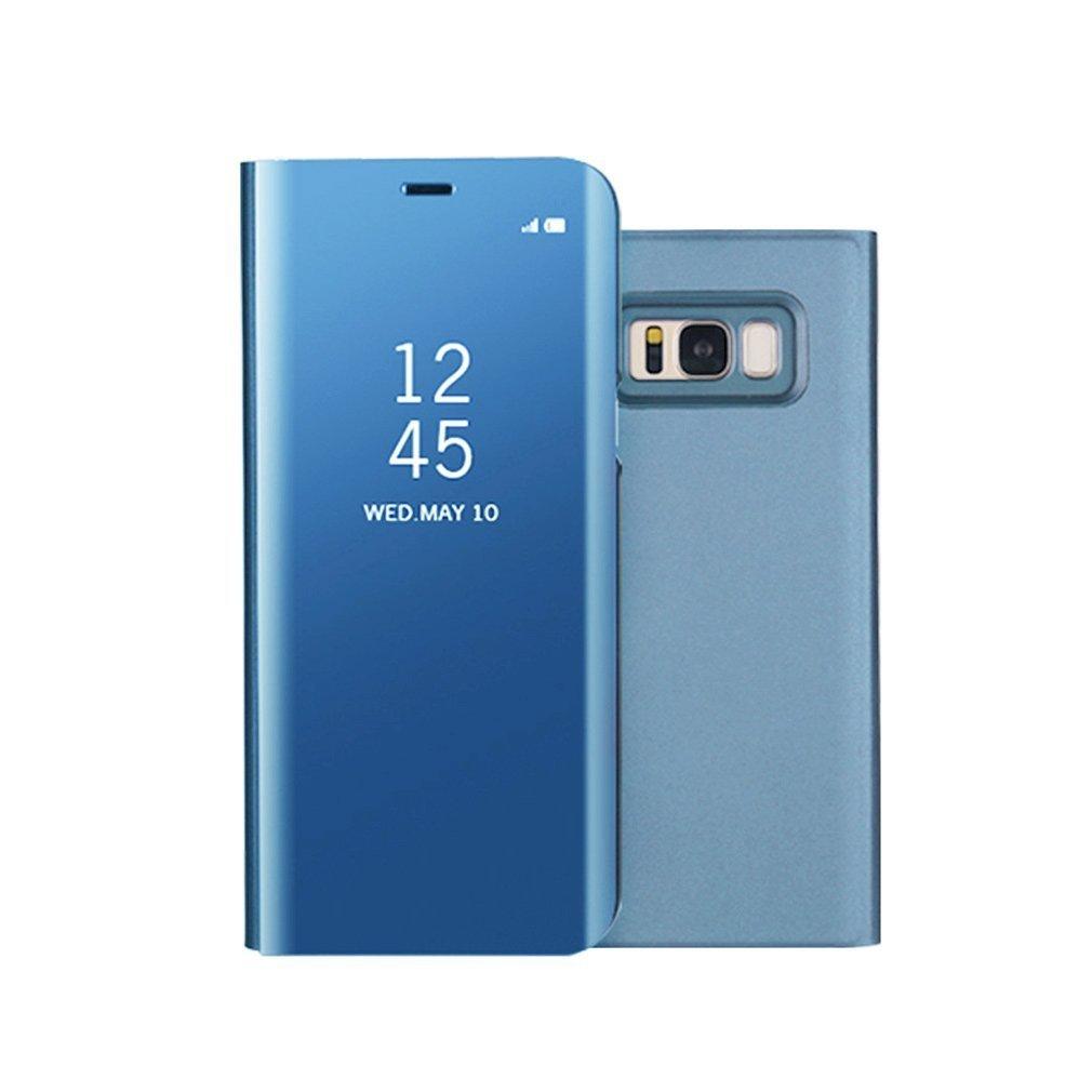 Funda Samsung S8 Plus Clear View Standing Cover, Aursen Carcasa Case para Samsung Galaxy S8 Plus, color azul