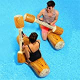 Inflatable Swimming Ring,Double Water Game Hit Stick Green PVC Suitable for Children Adults to Relax