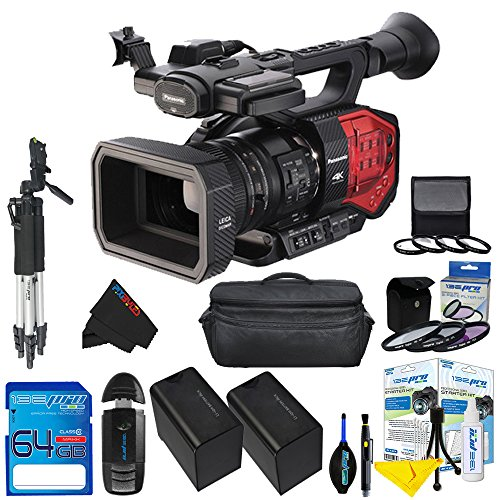 Panasonic AG-DVX200 4K Handheld Camcorder with Four Thirds Sensor and Integrated Zoom Lens + Pixi-Advanaced Accessory Kit - International Version