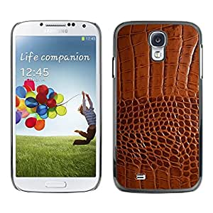 LOVE FOR Samsung Galaxy S4 Brown Leather Skin Imitation Faux Fabric Personalized Design Custom DIY Case Cover