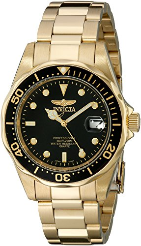 Invicta Men's 8936 Pro Diver Collection 23k Gold Plated Watch (Diver Yellow Watch)