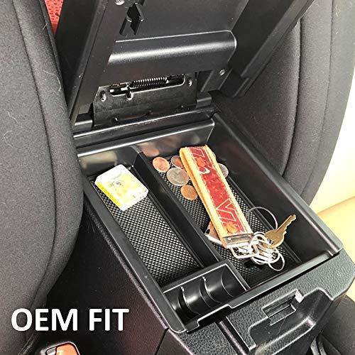 Auto Direct Center Console Armrest Box Glove Box Secondary Storage Console Organizer Insert Tray for 2016-2017 Toyota Tocoma