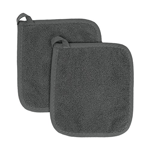 (Ritz Royale Collection 100% Cotton Terry Cloth Pot Holder Set, Kitchen Hot Pad, 2-Pack,)