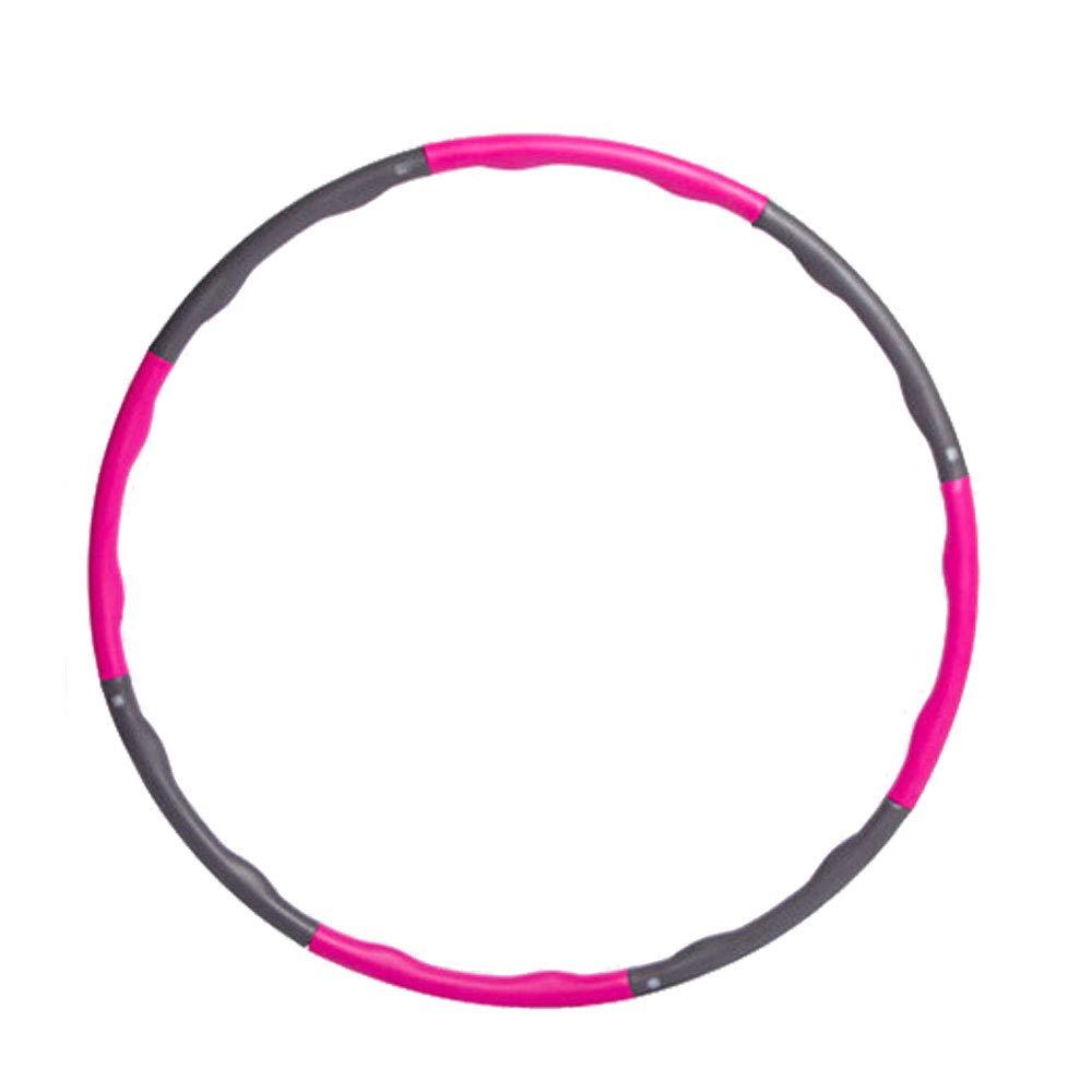Sadocom Fitness Hula Hoop 8/Sections en Mousse Amovibles Surface Fitness Taille r/églable Hula Hoop 96/cm 1.1/kg
