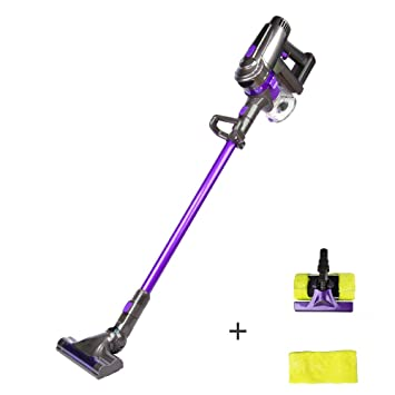 Cordless Vacuum For Hardwood Floors the best cordless vacuum for tile floors Dibea F6 2 In 1 Handheld Cordless Stick Vacuum Cleaner With Mop For Carpet