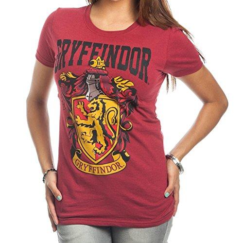 HARRY POTTER Gryffindor Crest Bold Girl Juniors T-Shirt (L)]()