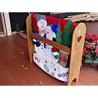 Quilt Rack Stand Hanging Shelf for the Floor Country Wooden Display Rack
