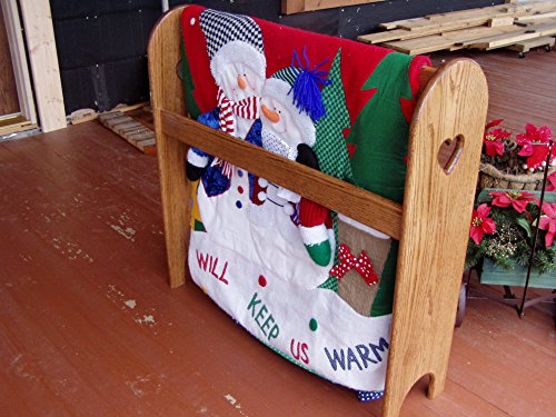 Quilt Rack Stand Hanging Shelf for the Floor Country Wooden Display Rack by Appletree Woodcrafts