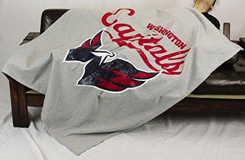 Washington Capitals NHL Sweatshirt Throw Blanket, Grey (Washington Throw Capitals)