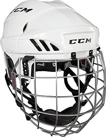 df9c34ea29c CCM FitLite FL60 Hockey Helmet with Cage - White - Size M  Amazon.co.uk   Sports   Outdoors