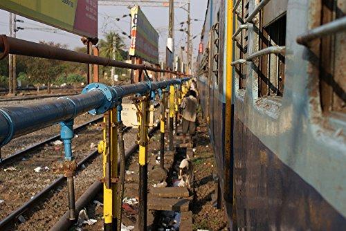Home Comforts LAMINATED POSTER Train Tracks Rail Yard Railways Poster 24x16 Adhesive (Railway Yard)