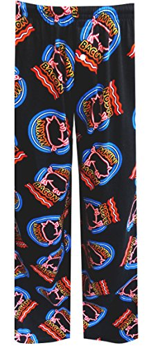 Fun Boxers Mens Food Fun Prints Pajama & Lounge Pants, Makin' Bacon, Large (Fun Pants Pajama)