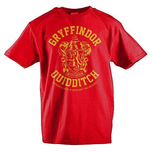 HARRY POTTER Gryffindor Slytherin Ravenclaw Hufflepuff Quidditch Boys Youth T-Shirt(Gryffindor,X-Large)