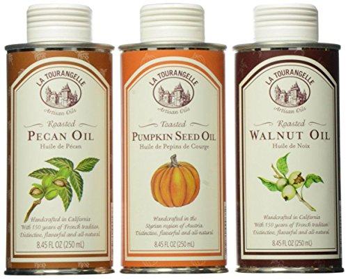 La Tourangelle Trio Fall/Winter Oil - Perfect Gift Set for Home Chef's - All-natural, Non-GMO - 25 Fl. Oz.