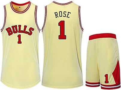 CCKWX Jerseys De Baloncesto para Hombre -Chicago Bulls # Rose ...