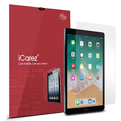 iCarez [HD Clear] PET Screen Protector for Apple 10.5-inch iPad Pro (2017)/ iPad Air (2019) Premium Easy to Install 2-Pack