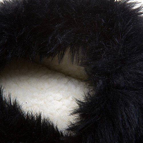 COOLCEPT Damen Mode Hidden Heel Stiefel Ohne Verschluss Black-2