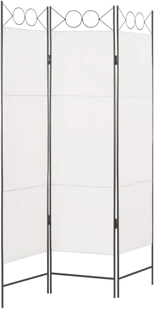FAMIROSA Paravento a 3 Pannelli Bianco 120x180 cm